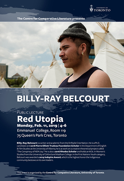 Billy-Ray Belcourt poster